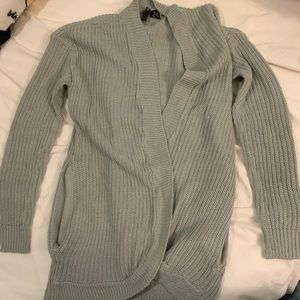 No comment Long cardigan in gray Size Medium